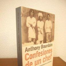 Libros de segunda mano: ANTHONY BOURDAIN: CONFESIONES DE UN CHEF (RBA, 2001) MUY BUEN ESTADO. PRIMERA EDICIÓN.. Lote 263174045