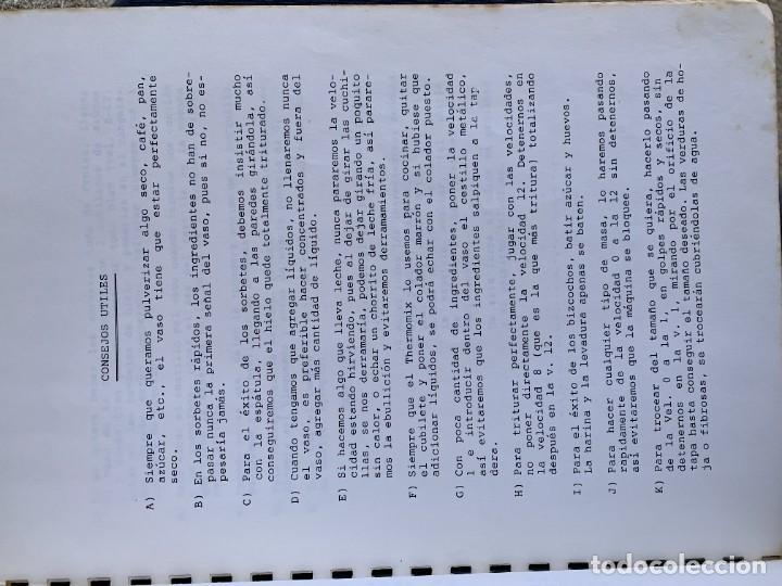 Libros de segunda mano: COCINANDO CON THERMOMIX VORWERK RECETAS APUNTES 31X22CMS - Foto 3 - 264190388