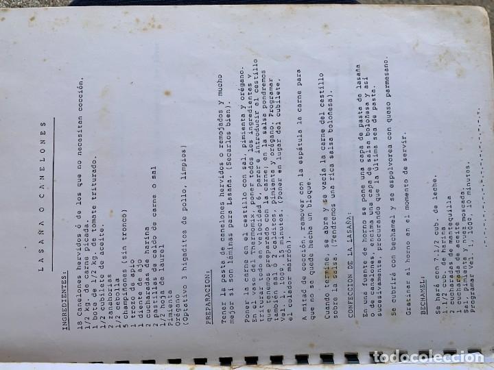 Libros de segunda mano: COCINANDO CON THERMOMIX VORWERK RECETAS APUNTES 31X22CMS - Foto 4 - 264190388