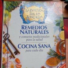 Libros de segunda mano: LA BOTICA DE LA ABUELA. REMEDIOS NATURALES, COCINA SANA PARA CADA DÍA. RBA, 1999. VV.AA.. Lote 265933203