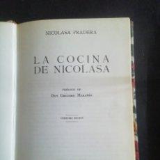 Libros de segunda mano: LA COCINA DE NICOLASA. NICOLASA PRADERA. ED. MAYFE, 1965.. Lote 269074388