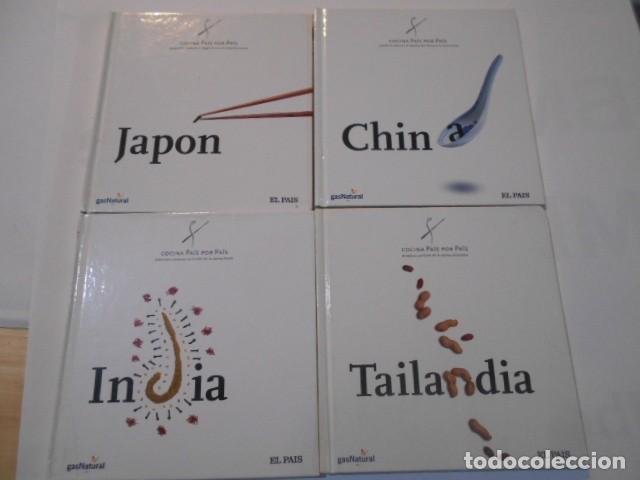 4 LIBROS -COCINA PAIS X PAIS-JAPON-CHINA-TAILANDIA-INDIA- (Libros de Segunda Mano - Cocina y Gastronomía)