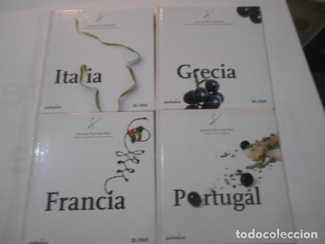 4 LIBROS -COCINA PAIS X PAIS-FRANCIA-PORTUGAL-GRECIA-ITALIA- (Libros de Segunda Mano - Cocina y Gastronomía)