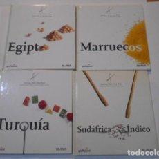 Libros de segunda mano: 4 LIBROS -COCINA PAIS X PAIS- EGIPTO--MARRUECOS--TURQUIA--SUDAFRICA Y EL INDICO. Lote 269090198