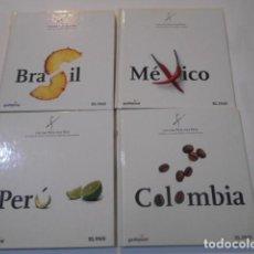 Libros de segunda mano: 4 LIBROS -COCINA PAIS X PAIS- -BRASIL--MEXICO--COLOMBIA--PERU. Lote 269090538