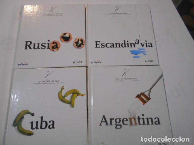 4 LIBROS -COCINA PAIS X PAIS---ARGENTINA--CUBA--ESCANDINAVIA--RUSIA-- (Libros de Segunda Mano - Cocina y Gastronomía)