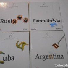 Libros de segunda mano: 4 LIBROS -COCINA PAIS X PAIS---ARGENTINA--CUBA--ESCANDINAVIA--RUSIA--. Lote 269090823