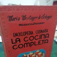Libros de segunda mano: MARIA MESTAYER DE ECHAGÜE. ENCICLOPEDIA CULINARIA LA COCINA COMPLETA. Lote 275119203