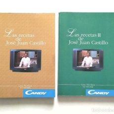 Livros em segunda mão: LAS RECETAS DE JOSÉ JUAN CASTILLO. VOLUMEN I Y II. CASA NICOLASA. SAN SEBASTIÁN. Lote 275537408