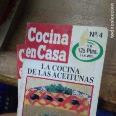 Libros de segunda mano: LIBRO LA COCINA DE LAS ACEITUNAS COCINA EN CASA Nº 4 ED. IRU L-2604-1563. Lote 277622383