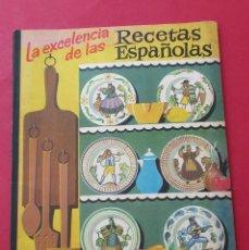 Libros de segunda mano: LA EXCELENCIA DE LAS RECETAS ESPAÑOLAS. GALLETAS ARTIACH. ILUSTRACIONES. 56 PÁGINAS.. Lote 277737968