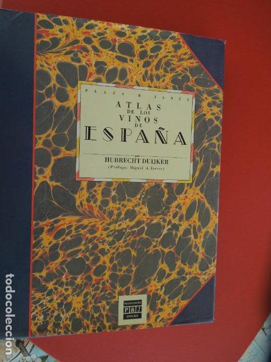 ATLAS DE LOS VINOS DE ESPAÑA POR HUBRECT DUIJKER - PLAZA Y JANE 1991 (Libros de Segunda Mano - Cocina y Gastronomía)