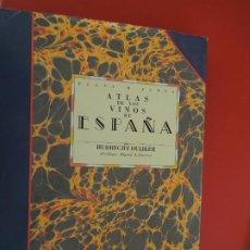 Libros de segunda mano: ATLAS DE LOS VINOS DE ESPAÑA POR HUBRECT DUIJKER - PLAZA Y JANE 1991. Lote 278177373
