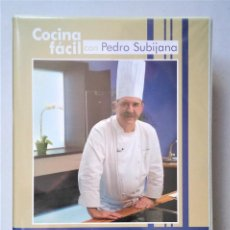 Libros de segunda mano: COCINA FÁCIL CON PEDRO SUBIJANA. ESTUCHE 8 DVDS CON 64 RECETAS + CUADERNO DE INGREDIENTES. Lote 278699318