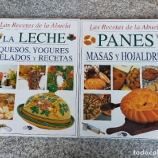 Libros de segunda mano: LECHE Y PAN.CULINARIO.DOS LIBROS MONOGRAFICOS. Lote 280350428