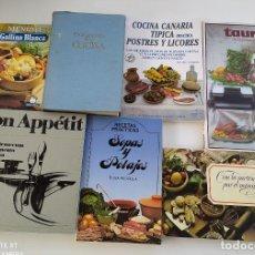 Libros de segunda mano: LOTE LIBROS DE RECETAS ANTIGUOS. Lote 283831203