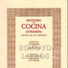 Libros de segunda mano: COFRADÍA EXTREMEÑA DE GASTRONOMÍA. RECETARIO DE COCINA EXTREMEÑA. ESTUDIO DE SUS ORÍGENES. PRÓLOGO D. Lote 288172223