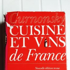 Livros em segunda mão: CUISINE ET VINS DE FRANCE. CURNONSKY. LAROUSSE. 1974. Lote 290488498