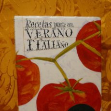 Libros de segunda mano: RECETAS PARA UN VERANO ITALIANO. Lote 292333613
