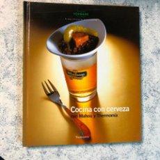 Libros de segunda mano: COCINA CON CERVEZA MAHOU Y THERMOMIX. Lote 295815603
