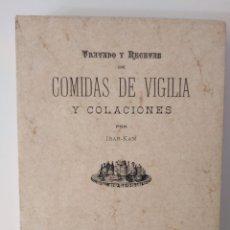 Libros de segunda mano: LA COCINA PRÁCTICA. TRATADO Y RECETAS DE COMIDAS DE VIGILIA Y COLACIONES / IBAR-KAM. Lote 296013803