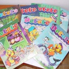 Libros de segunda mano: PETETE. LOTE DE 9 REVISTAS. Lote 26315662