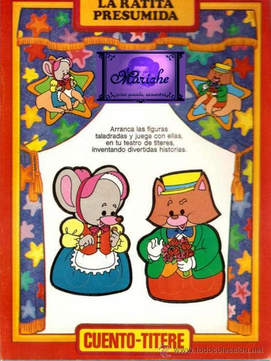 CUENTO TÍTERE LA RATITA PRESUMIDA DIBUJOS DE BUSQUETS (Libros de Segunda Mano - Literatura Infantil y Juvenil - Cuentos)