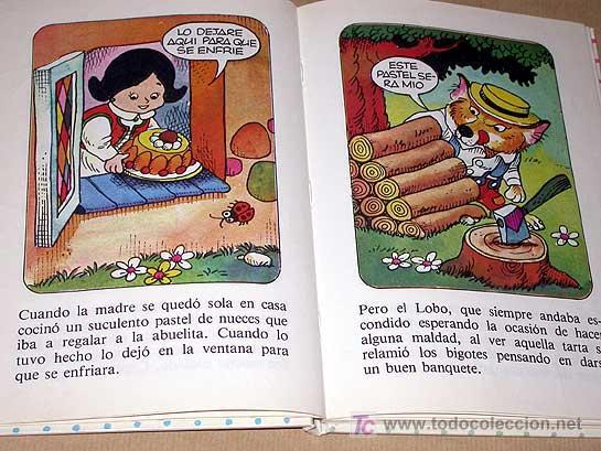Libros de segunda mano: CAPERUCITA ROJA. COLECCIÓN DIN DAN Nº 1. BRUGUERA 1985. RODOREDA, PELLICER Y JUAN LÓPEZ (JAN). +++++ - Foto 3 - 26383688