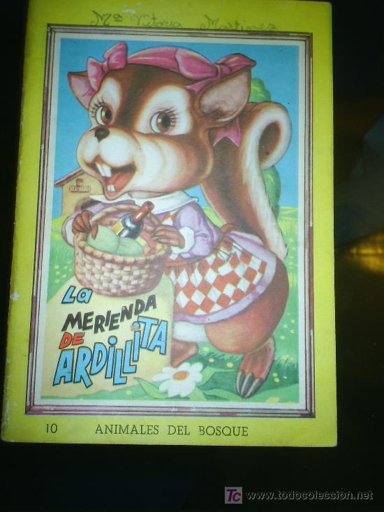 M69 ANTIGUO CUENTO LA MERIENDA DE ARDILLITA NUMERO 10 COLECCION ANIMALES DEL BOSQUE (Libros de Segunda Mano - Literatura Infantil y Juvenil - Cuentos)