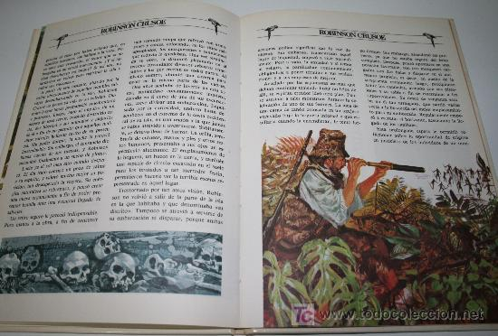 Libros de segunda mano: ROBINSON CRUSOE - DANIEL DEFOE - GRANDES AVENTURAS ILUSTRADAS - BRUGUERA1981 - Foto 3 - 27637134