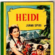 Libros de segunda mano: COLECCION CORINTO 1958, HEIDI, PORTADA VICENTE ROSO, DIBUJO ANGEL BADIA, VER DIBUJOS. Lote 18687937