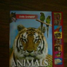 Libros de segunda mano: LIBRO CON SONIDOS ELS ANIMALS DE LA SELVA EN CATALÁN. Lote 26116878