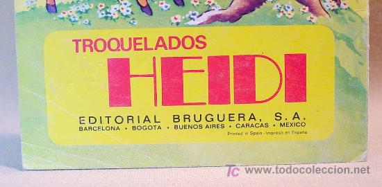 Libros de segunda mano: TROQUELADOS HEIDI, EDITORIAL BRUGUERA, EL CERVATILLO, Nº 1, BARCELONA, 1975 - Foto 3 - 16751479
