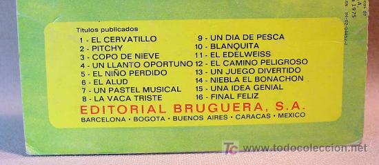 Libros de segunda mano: CUENTOS HEIDI, EDITORIAL BRUGUERA, EDELWEISS, Nº 11, BARCELONA, 1975 - Foto 3 - 16751447