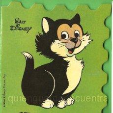 Libros de segunda mano: CUENTO TROQUELADO DE DISNEY Y BRUGUERA 1981, FÍGARO, BONGO Y BAMBY LOTE DE TRES CUENTOS NUEVOS. Lote 26141106