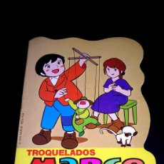Libros de segunda mano: Nº 1 TROQUELADOS MARCO, SESIÓN DE MARIONETAS, CUENTO INFANTIL ILUSTRADO, ED. BRUGUERA, ORIGINAL 1977. Lote 20945933