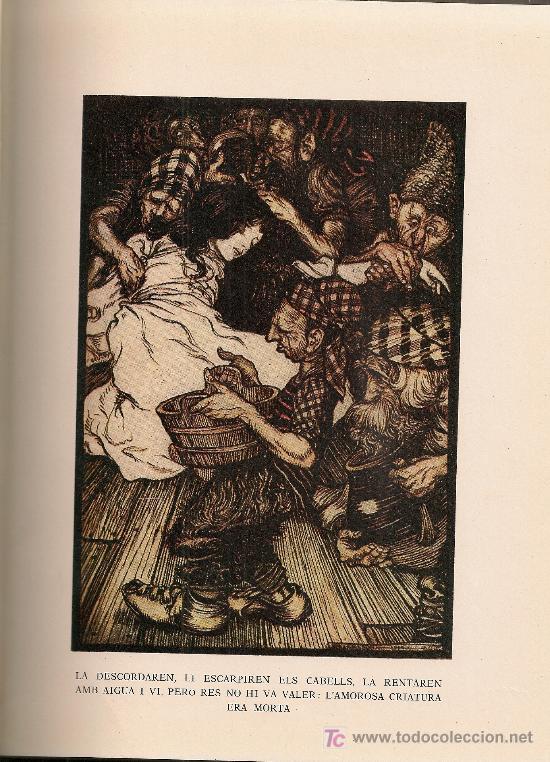 Libros de segunda mano: Rondalles de Grimm / Ilust. Arthur Rackham. Barcelona : Juventud, 1966. 25 x 19 cm. Tela Ed. 150 p. - Foto 6 - 27249352