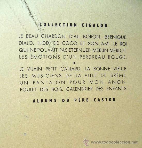 Libros de segunda mano: LIBRO DE CUENTOS PARA NIÑOS, LE TAPIS VOLANT, PERE CASTOR, COLECCION CIGALOU, FRANCIA, 1959 - Foto 3 - 21670152