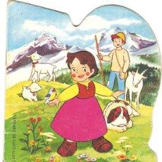 Libros de segunda mano: CUENTO TROQUELADO HEIDI EN LA VACA TRISTE EDITORIAL BRUGUERA 1975. Lote 40711654