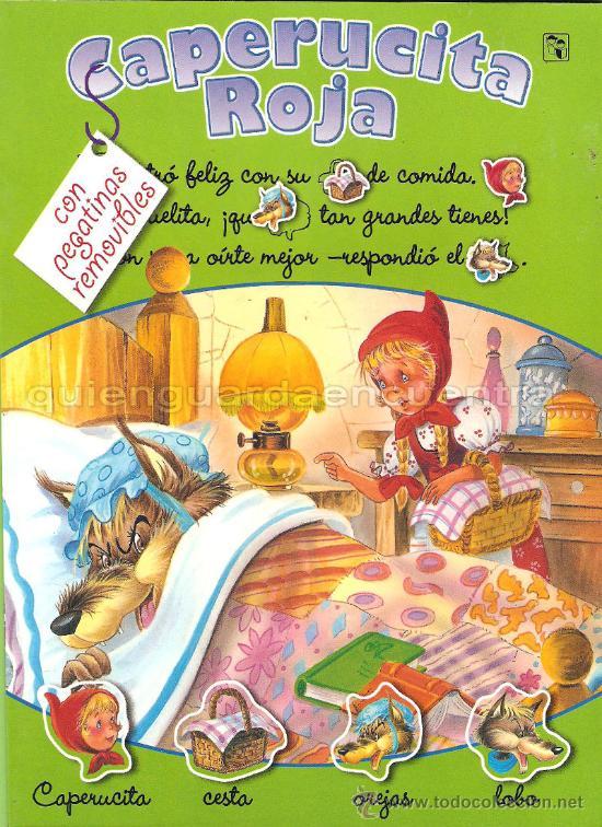 CAPERUCITA ROJA SALDAÑA CARLOS BUSQUETS CROMOS TROQUELADOS COLECCIÓN CLÁSICOS CON PICTOGRAMAS NUEVO (Libros de Segunda Mano - Literatura Infantil y Juvenil - Cuentos)