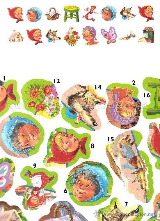 Libros de segunda mano: Caperucita Roja Saldaña Carlos Busquets cromos troquelados colección clásicos con pictogramas nuevo - Foto 2 - 26048437