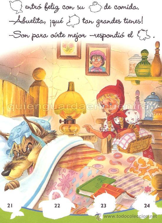 Libros de segunda mano: Caperucita Roja Saldaña Carlos Busquets cromos troquelados colección clásicos con pictogramas nuevo - Foto 3 - 26048437