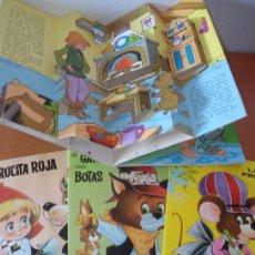 Libros de segunda mano: LOTE DE 4 CUENTOS CLÁSICOS DE EDITORIAL ROMA. CUENTOS EN RELIEVE. AÑO 1973.. Lote 26268303