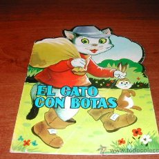 Libros de segunda mano: CUENTO TROQUELADO PRODUCCIONES EDITORIALES. EL GATO CON BOTAS. . Lote 23634352