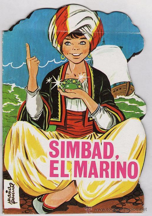 MINI CUENTO CLASICO TORAY - SIMBAD EL MARINO - TROQUELADO - DIB. MARIA PASCUAL - AÑO 1989 (Libros de Segunda Mano - Literatura Infantil y Juvenil - Cuentos)