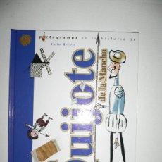 Libros de segunda mano: DON QUIJOTE DE LA MANCHA LIBRO CON PICTOGRAMAS. Lote 26628037