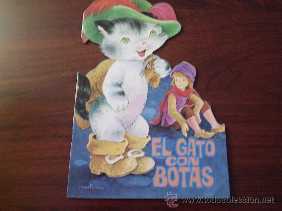 CUENTO TROQUELADO EL GATO CON BOTAS ILUSTRACIONES CONSTANZA 1984 (Libros de Segunda Mano - Literatura Infantil y Juvenil - Cuentos)