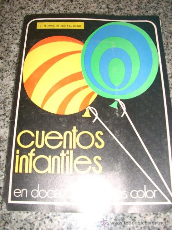 CUENTOS INFANTILES EN 12 DIAPOSITIVAS COLOR (EL ZORRO, LAS UVAS Y EL CUERVO) BRITTANNICO - ARGENTINA (Libros de Segunda Mano - Literatura Infantil y Juvenil - Cuentos)