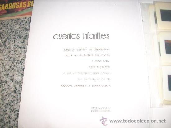 Libros de segunda mano: CUENTOS INFANTILES EN 12 DIAPOSITIVAS COLOR (El zorro, las uvas y el cuervo) Brittannico - Argentina - Foto 3 - 28176478