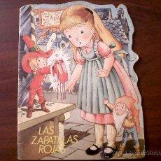 Libros de segunda mano: CUENTO TROQUELADO LAS ZAPATILLAS ROJAS EDITORIAL BRUGUERA 1979. Lote 28272027